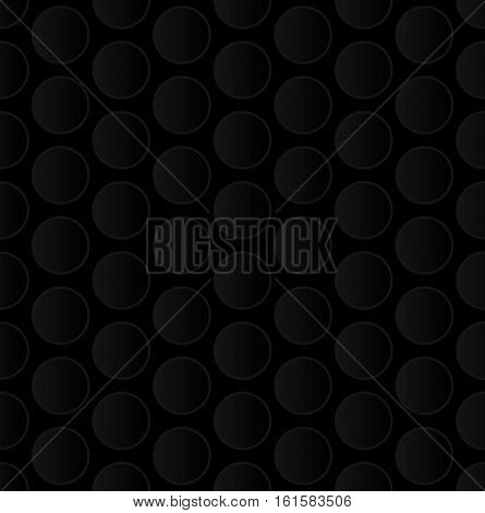 Bubble Wrap. Black Neutral Seamless Pattern for Modern Design in Flat Style. Tileable Geometric Vector Background.