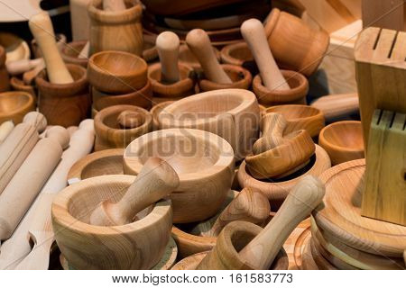 composition of a lot of bamboo cups