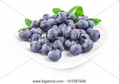 Whortleberry isolated on a white background cutout