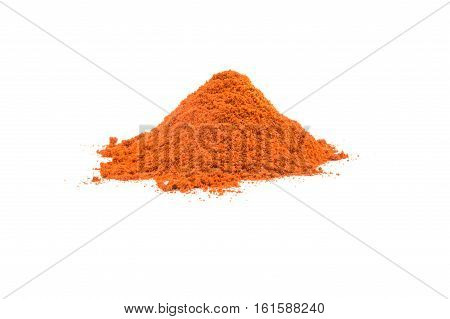 Cayenne pepper spice isolated on a white background cutout