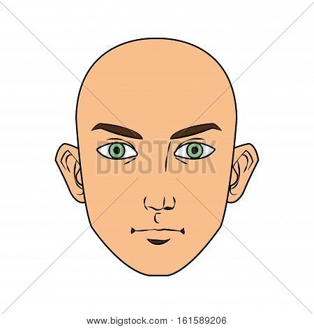 Man face cartoon icon. Male avatar person people and human theme. Isolated design. Vector illustration