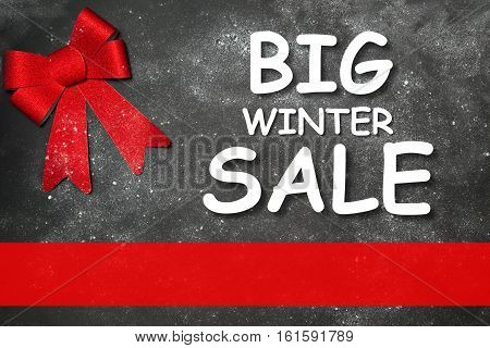 Winter decoration with text  BIG WINTER SALE empty lower third