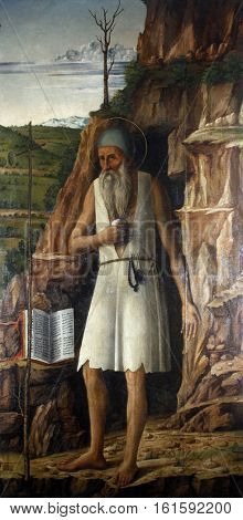 TROGIR, CROATIA - DECEMBER 12: Gentile Bellini: Saint Jerome, Altarpiece in Cathedral of Saint Lawrence in Trogir, Croatia on December 12, 2011