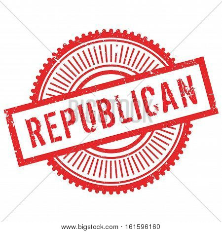 Republican stamp. Grunge design with dust scratches. Effects can be easily removed for a clean, crisp look. Color is easily changed.