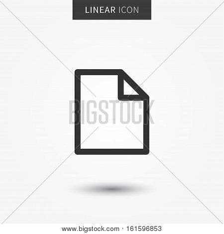 Blank file icon vector illustration. Isolated blank document line symbol. Documents linear icon. Paper page office element outline concept. Isolated new file object.