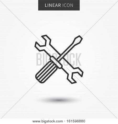 Technical support icon vector illustration. Isolated technical maintenance line symbol.
