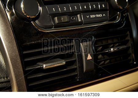 Car audio system front panel, traffic, music, stereo