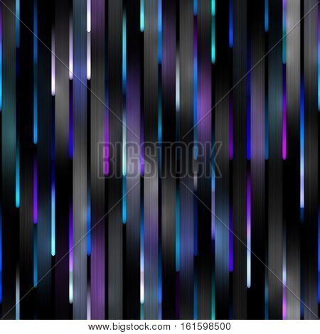 Gradient blue Neon Motion Lines. Abstract Geometric Background Design. Seamless Multicolor Pattern