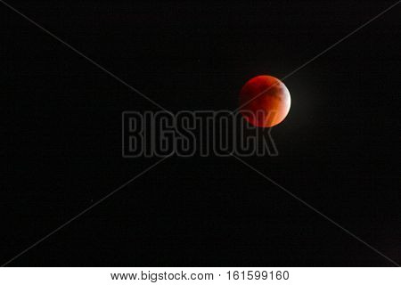 Image of Red Blood Moon in the Sky