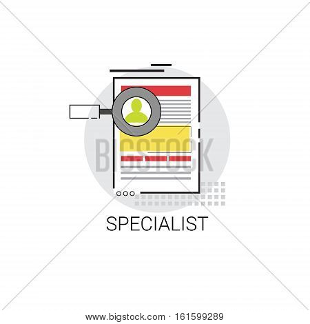 Specialist Candidate Vacancy Search Icon Business Concept Vector Illustration