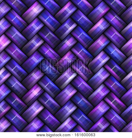 Twill purple Weave Texture. Abstract Geometric Background Design. Seamless Multicolor Pattern.