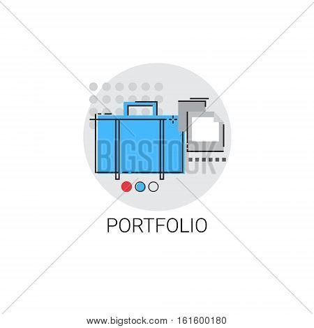Portfolio Professional Occupation Business Icon Vector Illustration