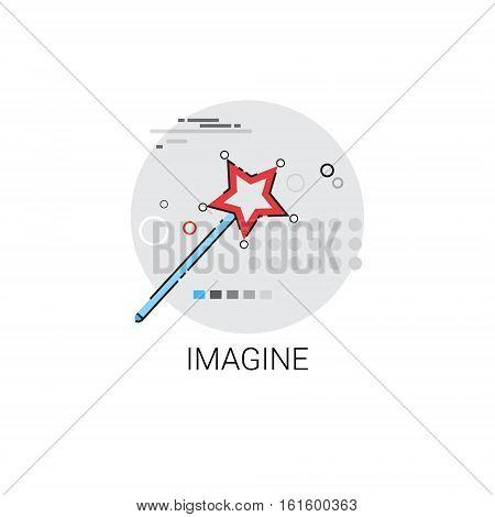 Imagine New Idea Inspiration Creative Process Business Icon Vector Illustration