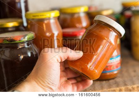 Preserves In Jars In Home Basement