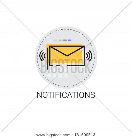 Notification Envelope Email Inbox Message Send Mail Vector Illustration