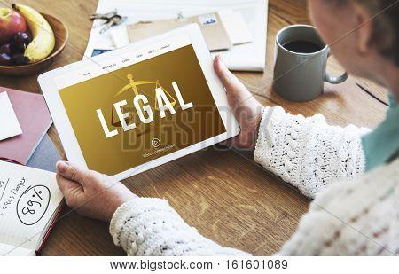 Legal Court Right Case Concept