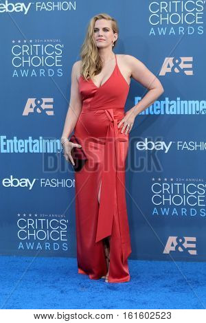 LOS ANGELES - DEC 11:  Anna Chlumsky at the 22nd Annual Critics' Choice Awards at Barker Hanger on December 11, 2016 in Santa Monica, CA
