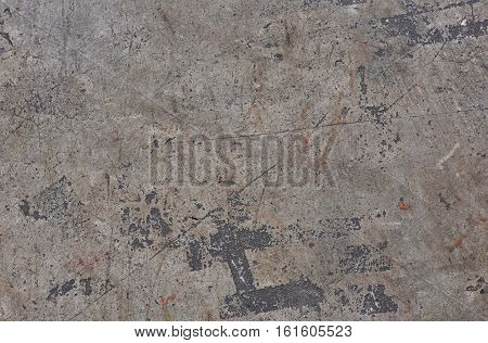 Closeup texture abstract old wall background split, terrible