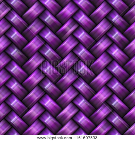 Twill Weave purple Texture. Abstract Geometric Background Design. Seamless Multicolor Pattern.
