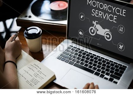 Motorcycle Service Engine Fix Concept