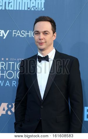 LOS ANGELES - DEC 11:  Jim Parsons at the 22nd Annual Critics' Choice Awards at Barker Hanger on December 11, 2016 in Santa Monica, CA