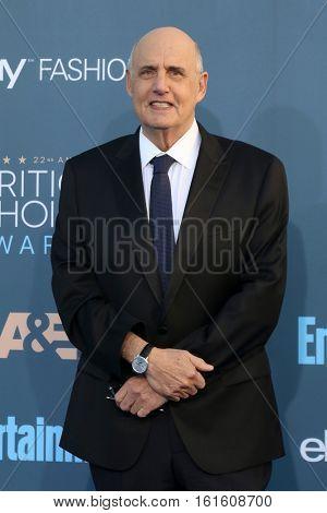 LOS ANGELES - DEC 11:  Jeffrey Tambor at the 22nd Annual Critics' Choice Awards at Barker Hanger on December 11, 2016 in Santa Monica, CA