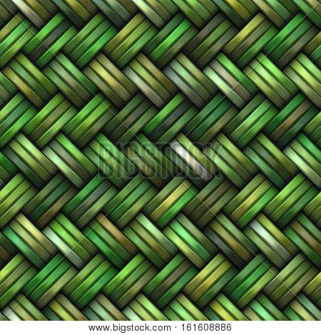 Twill Weave green Texture. Abstract Geometric Background Design. Seamless Multicolor Pattern.