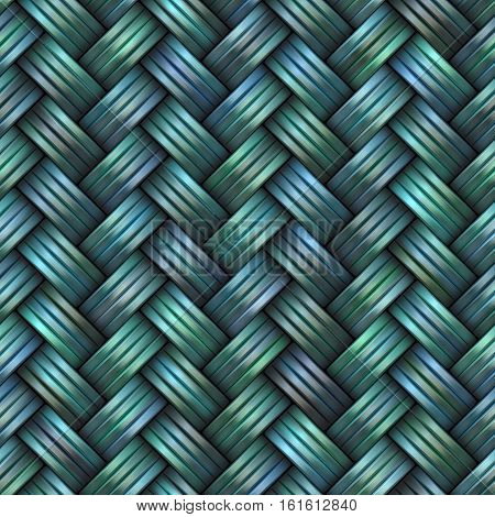 Twill Weave blue texture. Blue Abstract Geometric Background Design. Seamless Multicolor Pattern.