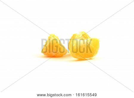 Sweet Organic Clementine Or Tangerine Wedge