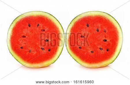 Water melon red fruit on white background