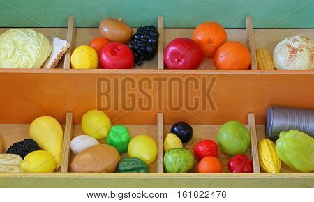Plastic Fruit To Play At The Greengrocer During Playtime