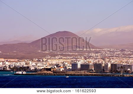 Puerto Del Carmen In Lanzarote Canary Islands Spain