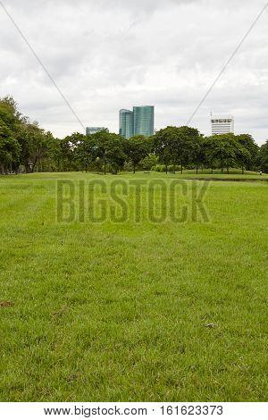 City park City park at Vachirabenjatas Park (Rot Fai Park) Bangkok Thailand
