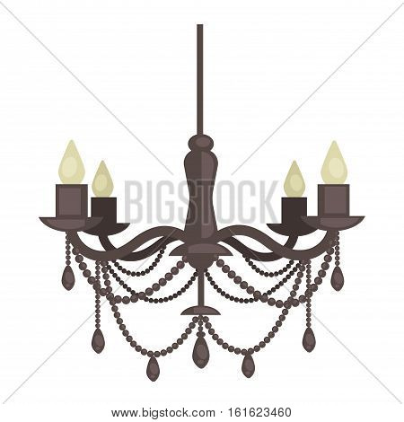 Lamp isolated. Interior light design. Electricity lamp. Chandelier Lam light interior decoration modern and classic style.