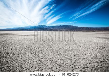 Dry land with pattern of the Death Valley, USA