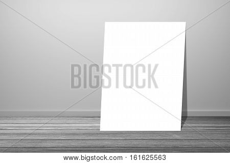 White Poster In Empty Room.space For Your Text And Picture.product Display Template.business Present