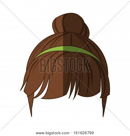 Woman hair icon. Girl female avatar person people and human theme. Isolated design. Vector illustration