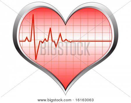 heart pulse vector illustration