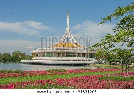Suanluang RAMA IX Public Park and botanical garden, Bangkok, Thailand.