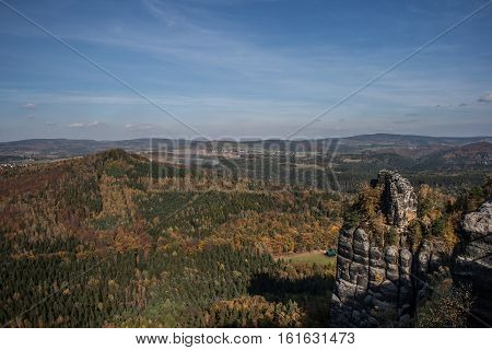 Landscape In The National Park Of The Saxonian Suisse