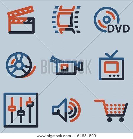 Video icons, colour contour series