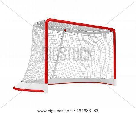 Hockey Gates isolated on white background. 3D render