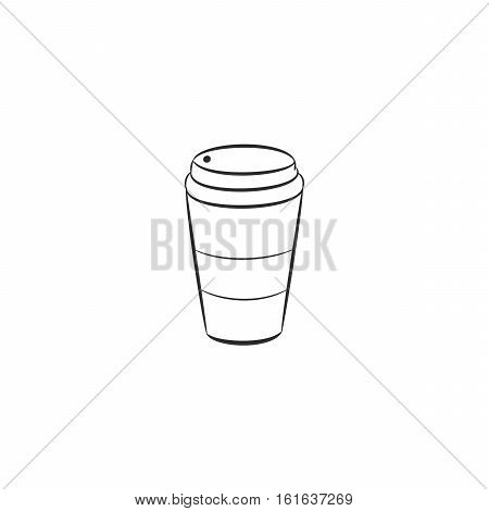 Coffee to go. Vector illustrations. Coffee apper cup.