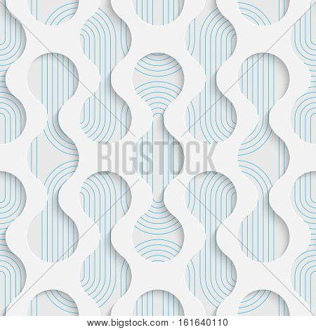 Seamless Geometric Pattern. Abstract Beautiful Luxury Background. Modern Symmetrical Wallpaper. 3d Decorative Design. Wrapping Paper Texture