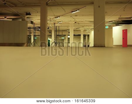 Industrial interiors - Warehouse premise - floor and fixtures