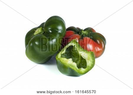 bulgarian pepper isolated on white background, isolated objects