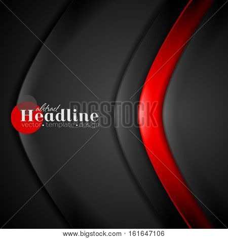 Red black contrast abstract background. Vector corporate design