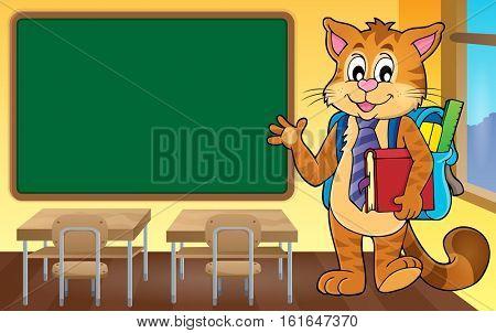 School cat theme image 4 - eps10 vector illustration.