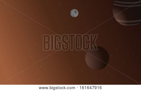 Planet outer space vector illustration collection stock