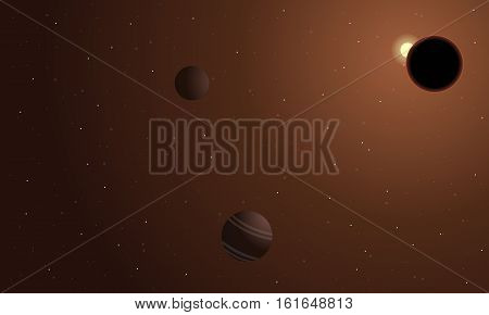 Fantasy space vector of landscape collection stock